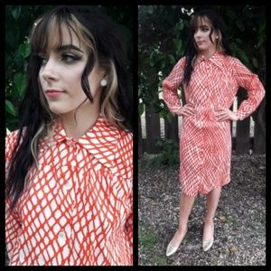 Beautiful! Vtg 60s button down shirt dress!
